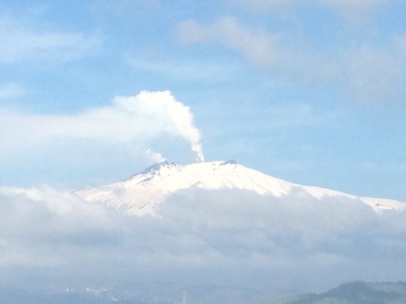 Mount Etna fromTaormina, April 8, 2017