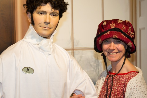 Siobhan Starrs and Mr Darcey at The Jane Austen Centre
