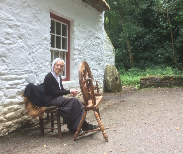 Liz Devlin demonstrates the art of spining at the Ulster American Folk Park, Omagh - July 28, 2017