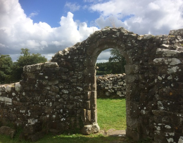The Romanesque Arch, White Island, Lough Erne, July 27, 2017 - Copy